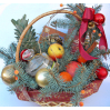 Christmas gift basket: delivery of bouquets in Kiev around the clock
