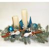 Новогодняя композиция со свечей №1