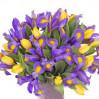 """Букет с ирисами и тюльпанами """"Весенний микс"""""""