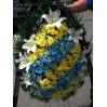 Траурный венок из хризантем №35 Высота 170см