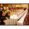 Оформление свадебного зала живыми цветами №2