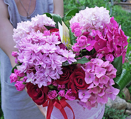 Courier service of flower delivery in Kyiv