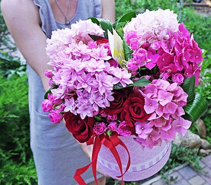 Доставка букета цветов Киев - гортензия