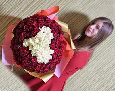 Букет цветов в аренду в Киеве: 101 роза фото