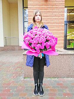 101 роза фото аренда: цветы на прокат в Киеве