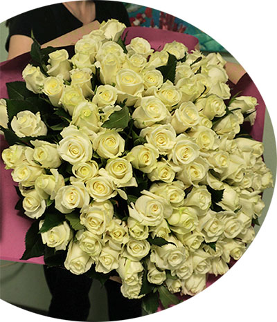 Flowers delivery to Kiev cheap clock