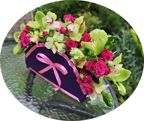 Courier delivery flowers to Kiev