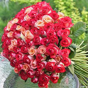 Цілодобове замовлення квітів Київ: 101 троянда