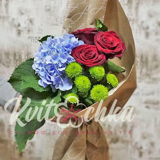 Цветы купить гортензии букет киев — img 1